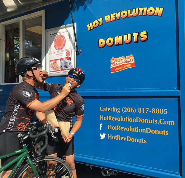 Hot Revolution Donuts for catering and at Markets and festivals in Seattle, King County and WA State
