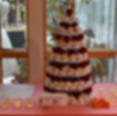 Delicious powder sugar wedding cake