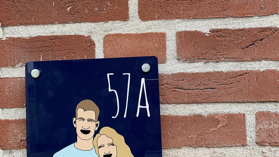 Persoonlijk Huisnummerbord