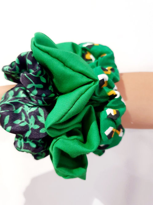 Large Scrunchies- Green