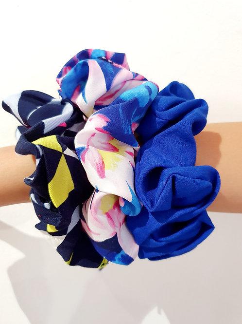 Large Scrunchies- blues