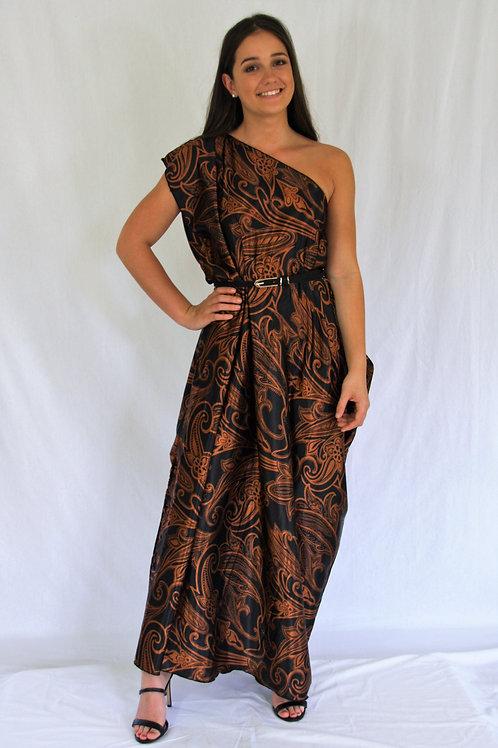 Sari Dress - Copper