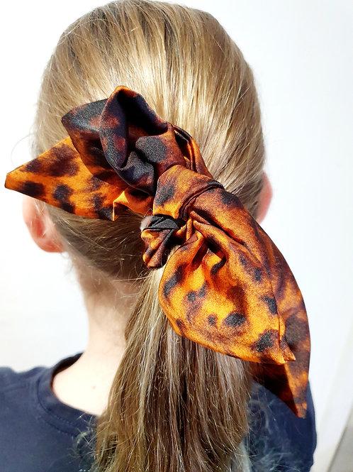 Ponytail Bows- tiger
