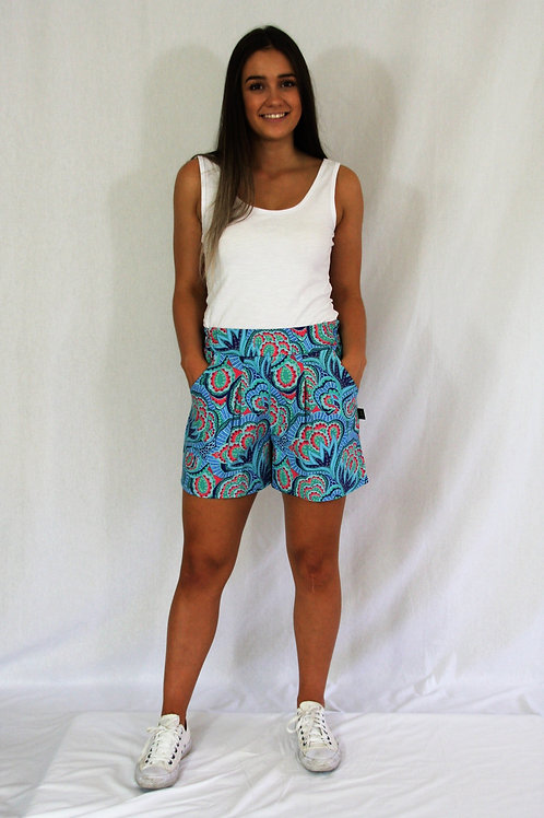 Dana Shorts - Blue Floral