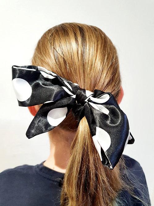 Ponytail Bows - black & white
