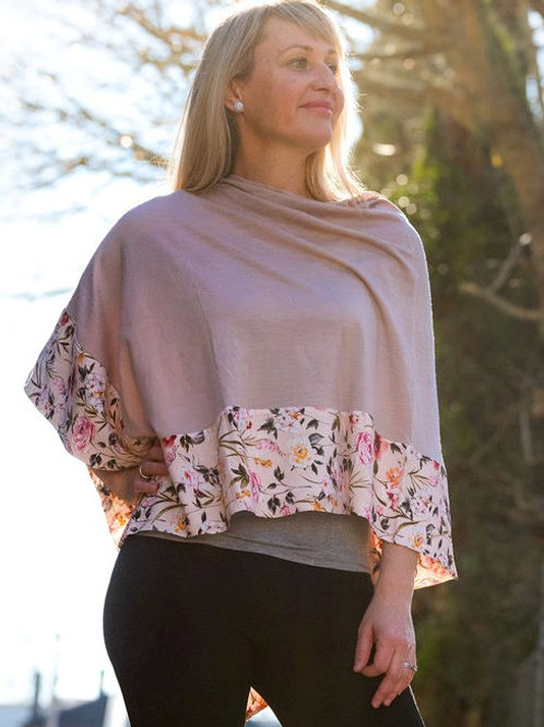 Boarded Poncho Classic - Blush