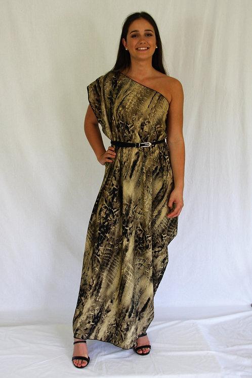Sari Dress - Reptile