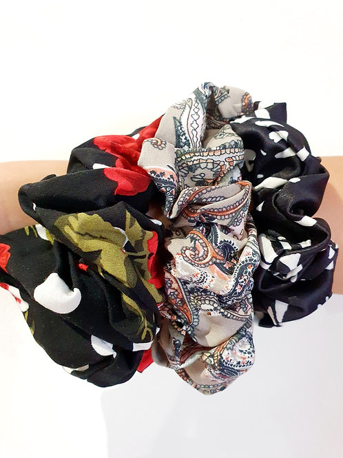 Large Scrunchies- Roses