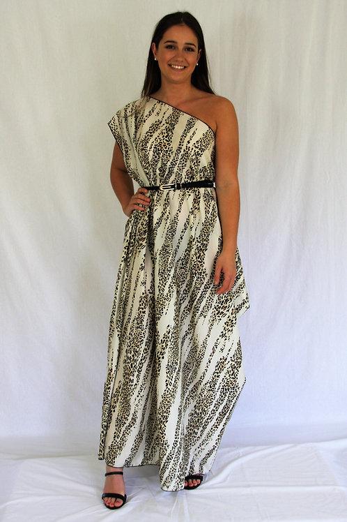 Sari Dress - Leopard
