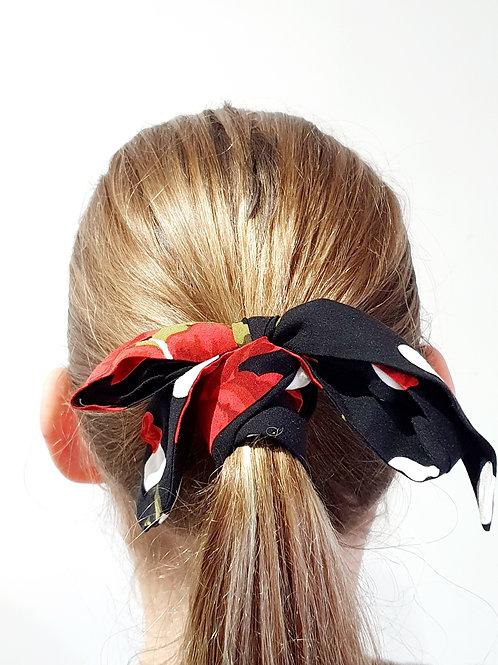 Ponytail bows- Roses