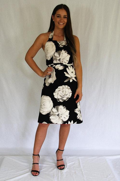 Sommer Dress - Black Floral