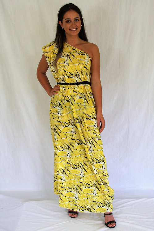 Sari Dress - Yellow