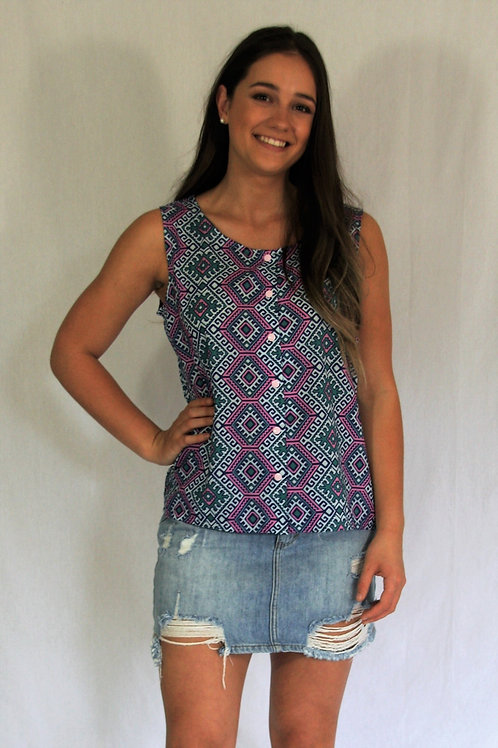 Betty Singlet - Aztec