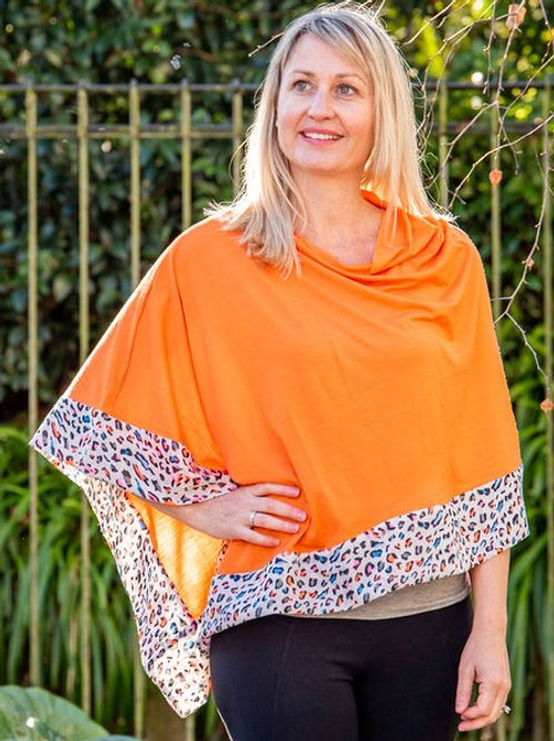 Boarded Poncho Classic - Leopard