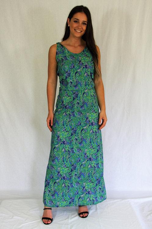 Davina Dress - Green Paisley