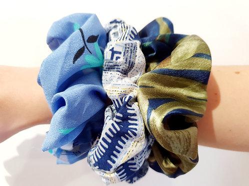 Medium Scrunchies- blues