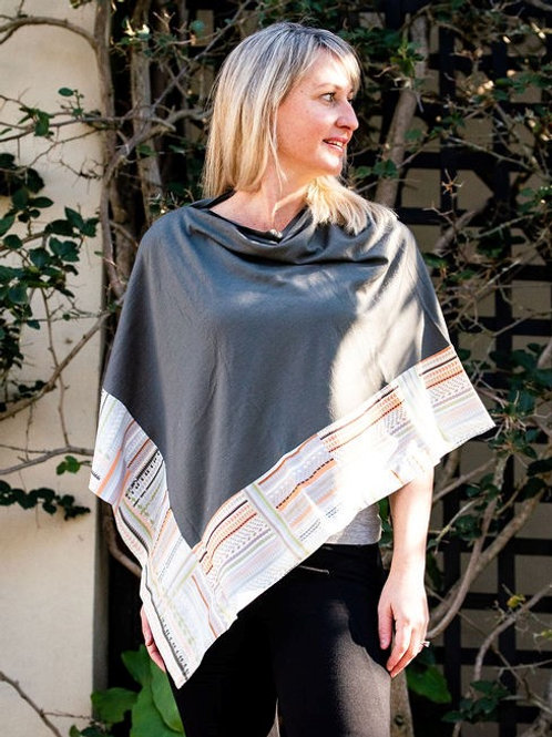 Boarded Poncho Classic - Pastel