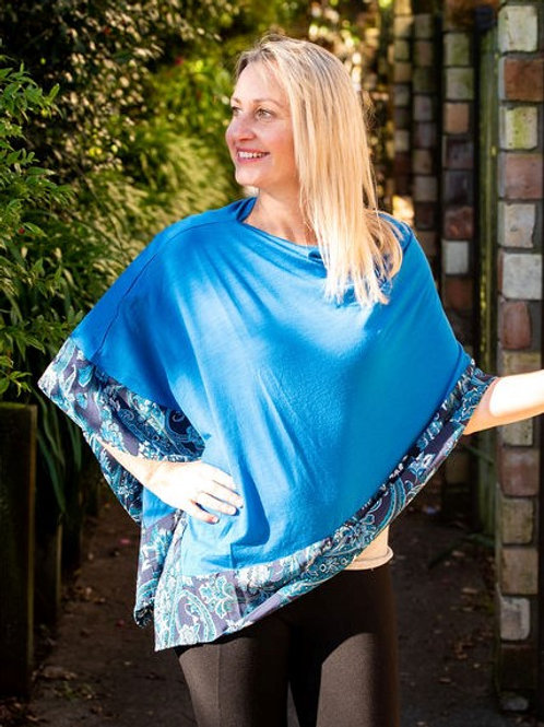Boarded Poncho Classic - Royal