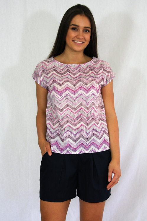 The Lucy Tee - Chevron