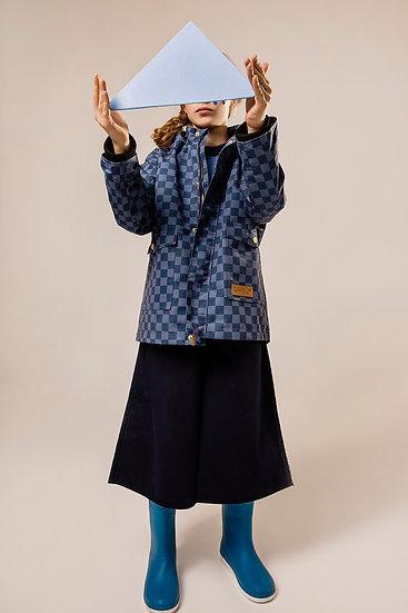CLASSIC BLUE CHESS COAT