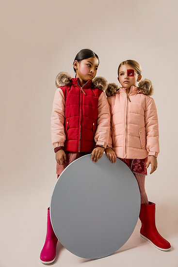 BICOLOR LOLLYPOP PADDED COAT