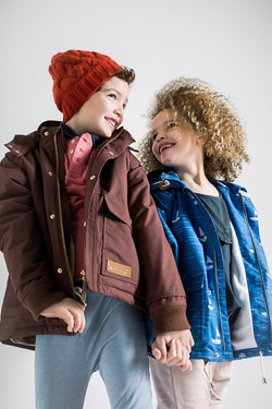 brown and little boats coat