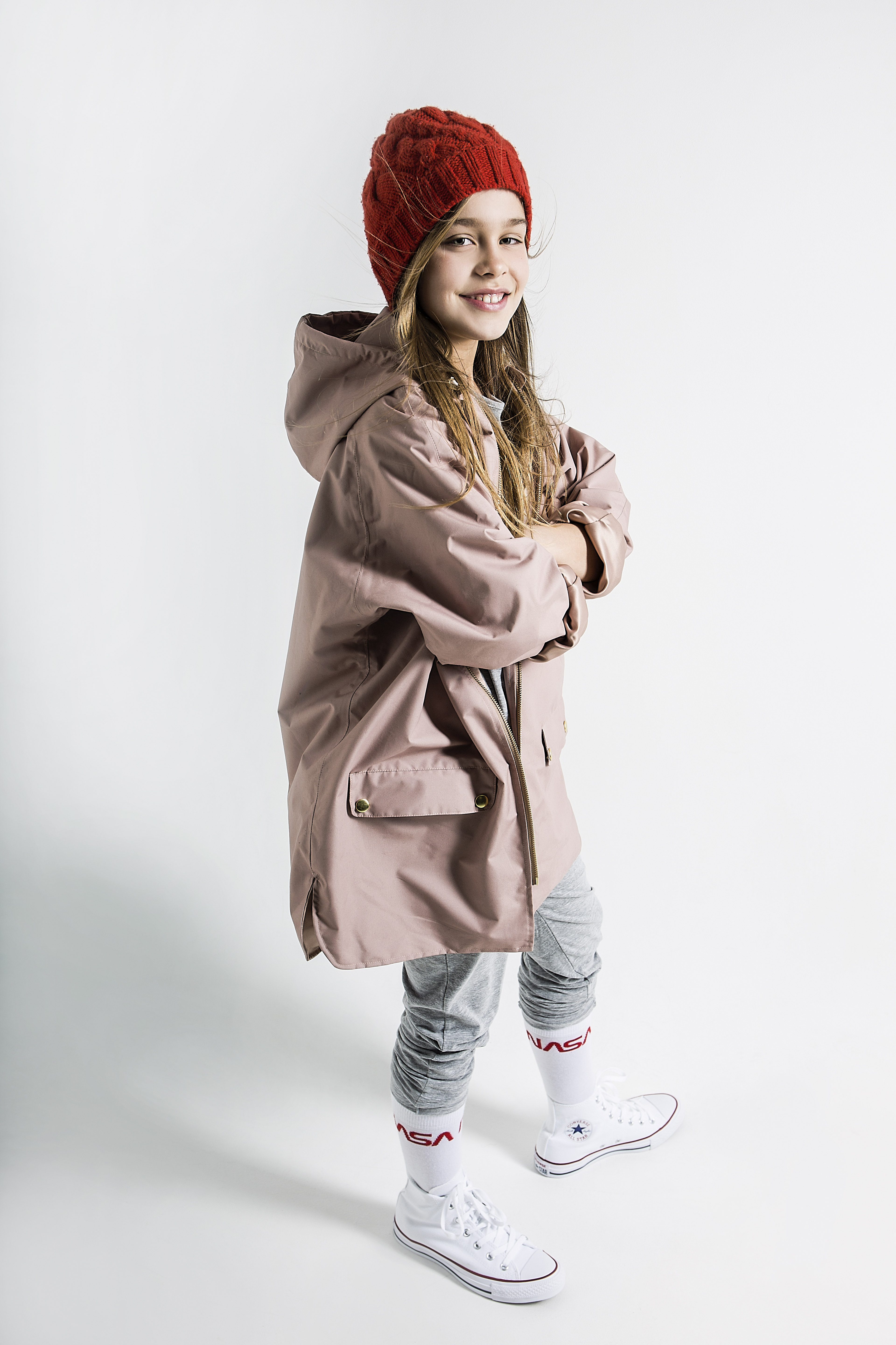 parka nude color, recycled