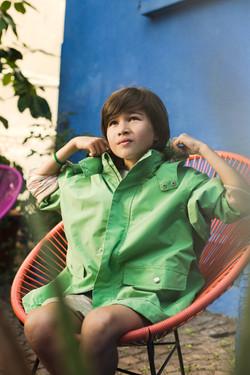 green arrows coat