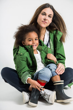 green coat mummy and me