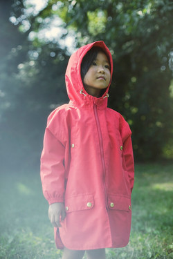 red raincoat kids recycled