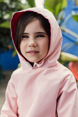 blue eyes reversible pink coat