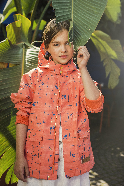 orange love coat