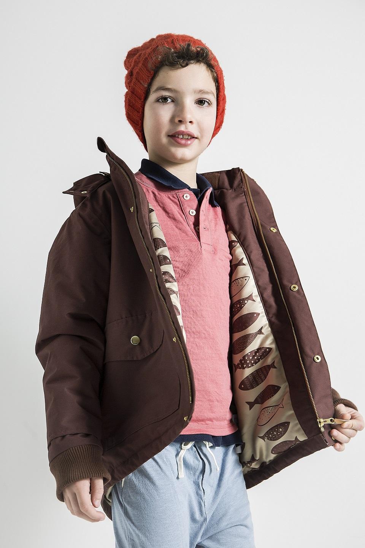 brown padded coat
