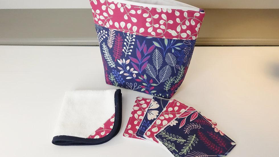 Pack voyage pochette/serviette/lingettes velours de bambou Jiku