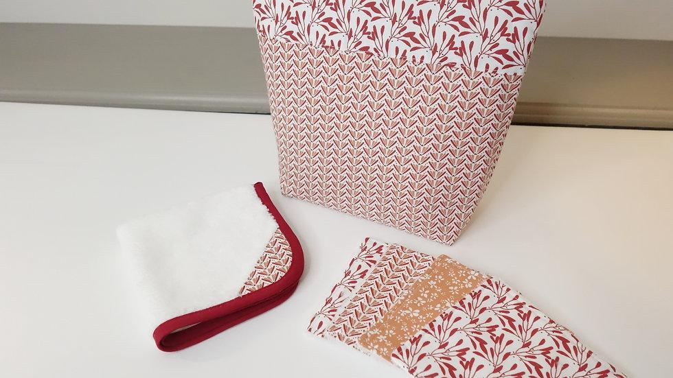 Pack voyage pochette/serviette/lingettes velours de bambou Lisbonne