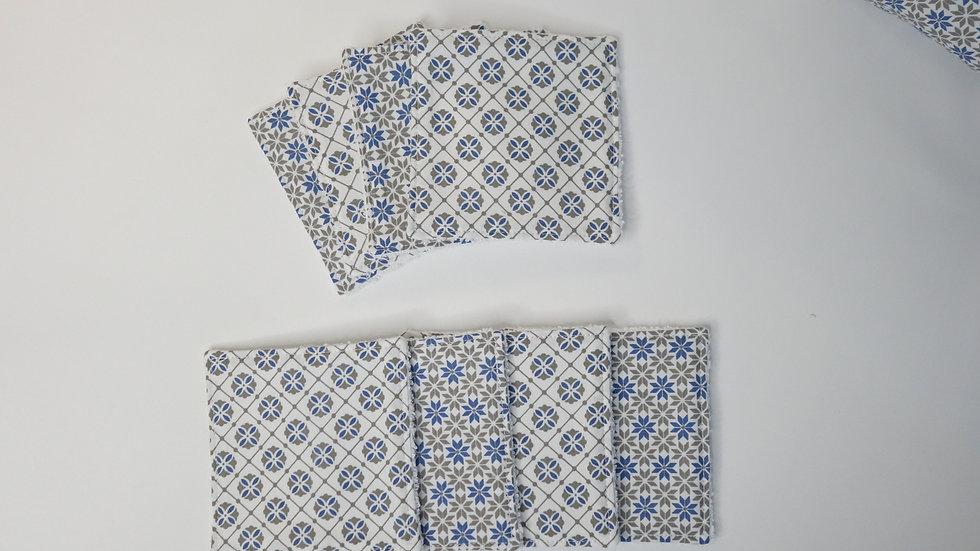 Lot de 8 lingettes lavables Gaspard éponge coton