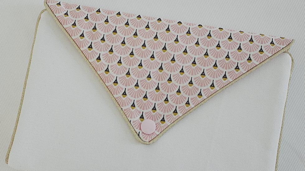 Pochettes à bijoux éventails roses