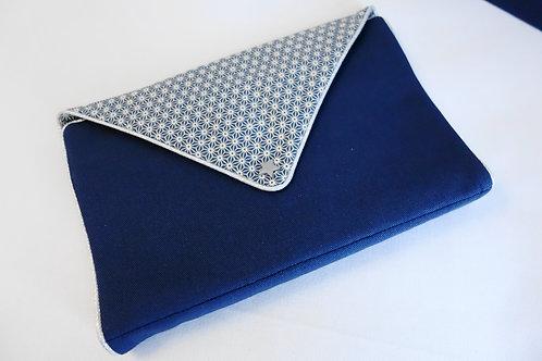 Pochette à bijoux Saki bleu