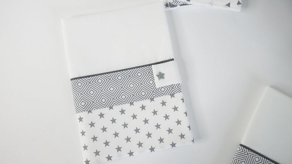Protège carnet de santé collection Graphique gris