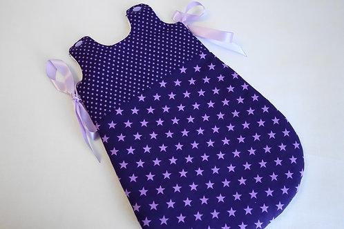 Turbulette poupon violette étoiles mauves