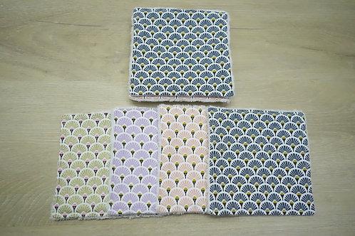 Lot de 8 lingettes lavables Bambou Ecailles 1