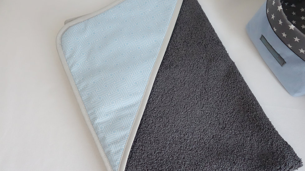 Sortie de bain Collection graphique bleu