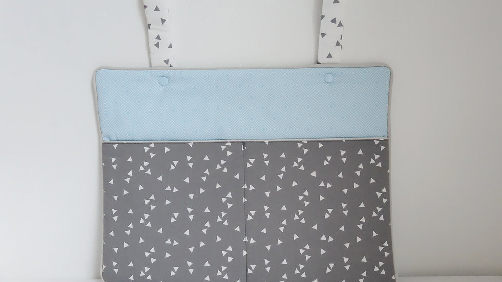 Range doudous/pyjama Collection graphique bleu