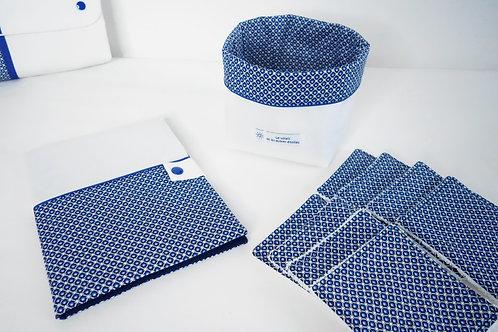 Pack naissance cercles bleus et marine