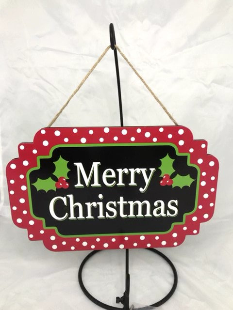 """AP8301-R 12.5""""L X 8""""H MDF """"MERRY CHRISTMAS"""" WOODEN SIGN"""