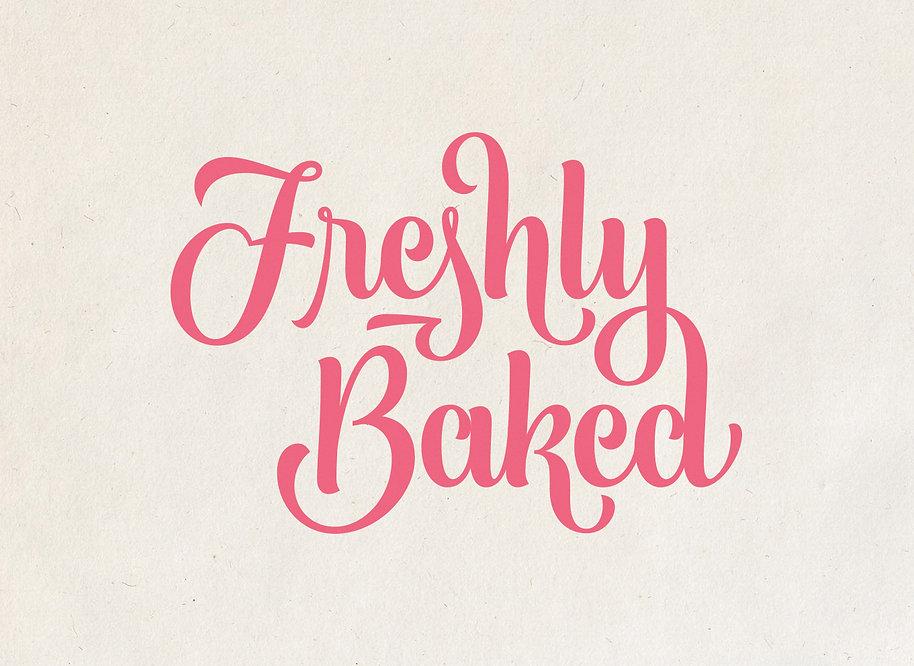 Freshly Baked Lettering