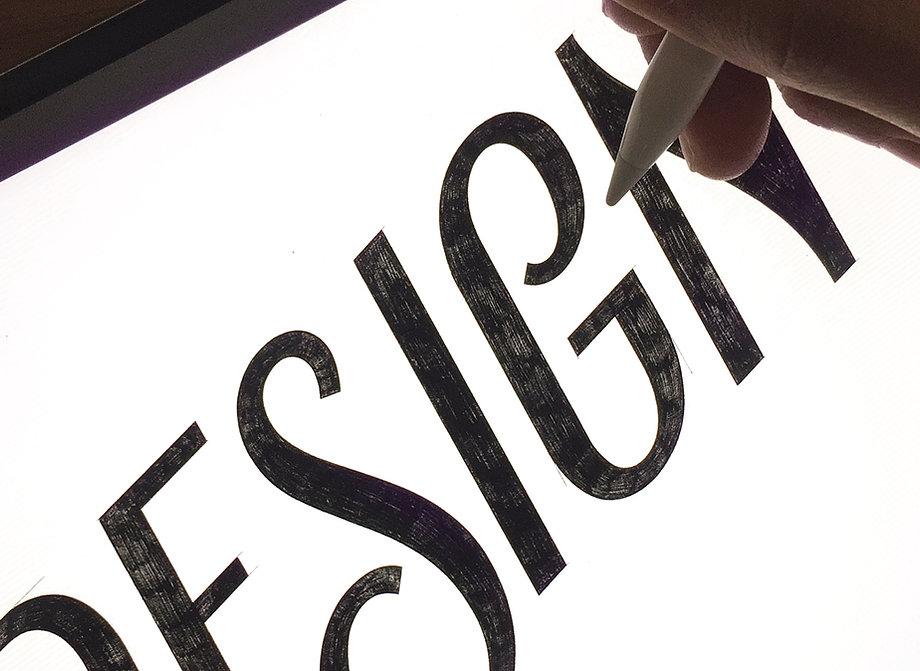 The Design Studio Lettering Mural Sketch Vini Vieira