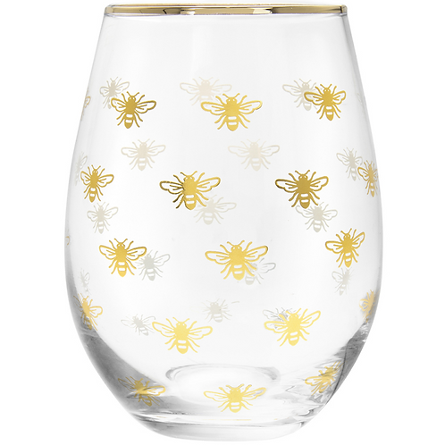 Gold Bees Stemless Tumbler