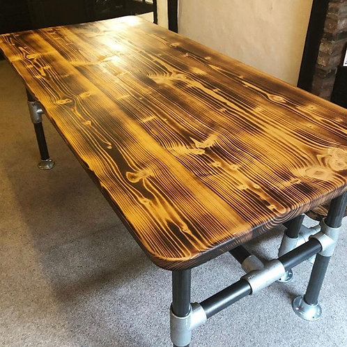 Bespoke Reclaimed Scaffold Board Dining Table