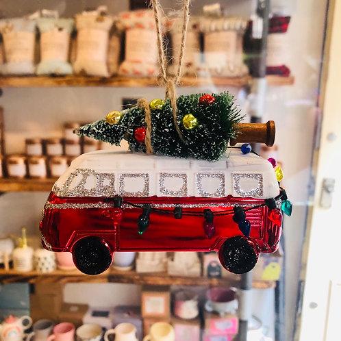 Hanging Red Camper Decoration
